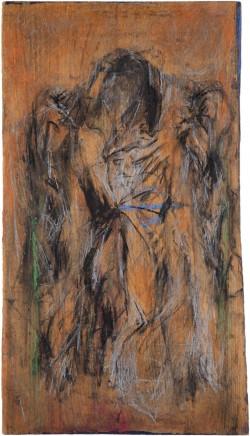 Der Mantel Kaspar Hausers mit Markierung des Einstichs 1, 2008