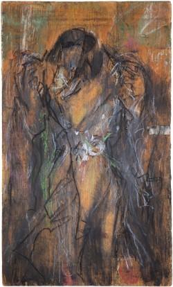 Der Mantel Kaspar Hausers mit Markierung des Einstichs 2, 2008