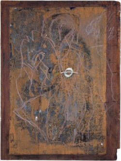Der Mantel Kaspar Hausers mit Markierung des Einstichs 4, 2008