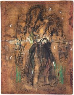 Der Mantel Kaspar Hausers mit Markierung des Einstichs 3, 2008